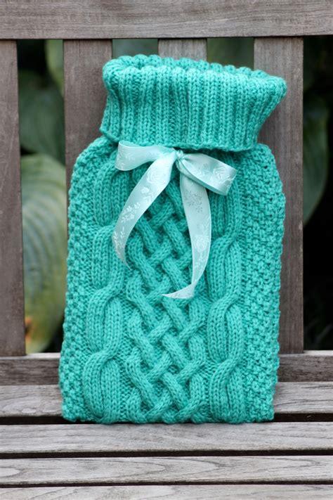 knitting pattern hot water bottle cover nancy cable knit hot water bottle cover mint