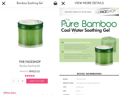Harga The Shop Damyang Bamboo the shop damyang bamboo 99 fresh soothing gel review