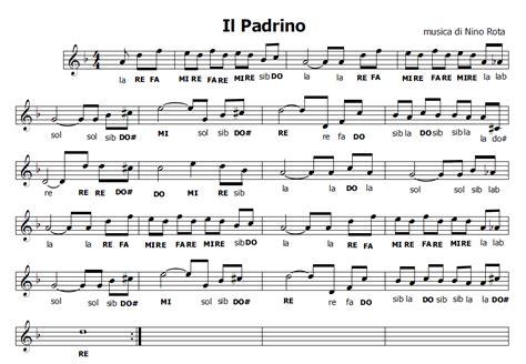 il dono film colonna sonora musica e spartiti gratis per flauto dolce il padrino
