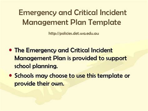 Emergency And Critical Incident Training Slides Oct 09 School Critical Incident Plan Template