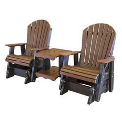 amish made patio double glider settee poly furniture lcc 108 front amish patio gliders