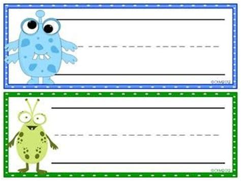 printable monster name tags little monsters nameplates tags carteles pinterest