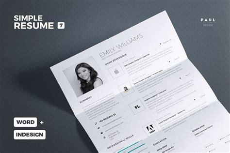 Simple Resume Template Vol 7 by 833 Best Cv Design Resume Search Images On