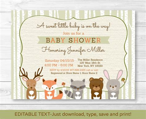 Woodland Critters Baby Shower by Woodland Creatures Baby Shower Invitations Dhavalthakur