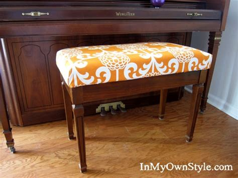 how to cover a bench with fabric 17 best images about piano ideas on pinterest fabric