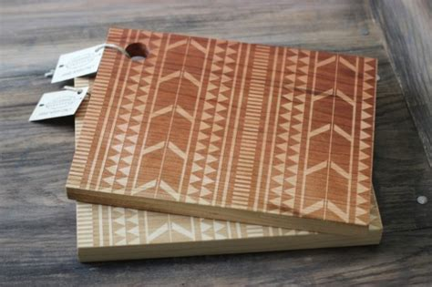pattern wood cutting board tribal design cutting board wood engraved modern aztec