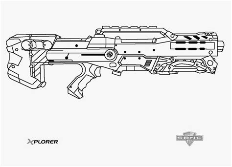 toy gun coloring page nerf longshot template this means nerf war pinterest