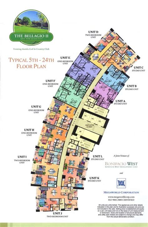 bellagio hotel floor plan global city mckinley hills and fort bonifacio condominiums