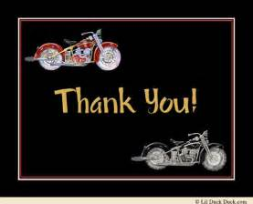 motorcycle birthday thank you card favorite colors event