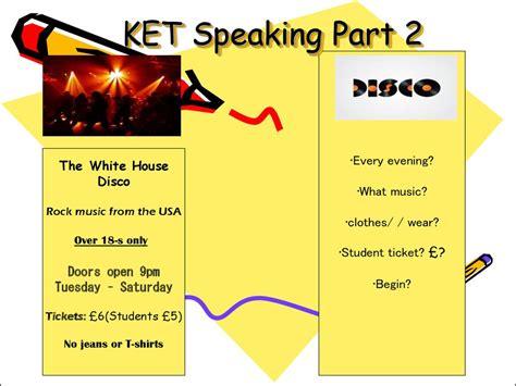 ket speaking test ket speaking р 2 presentation