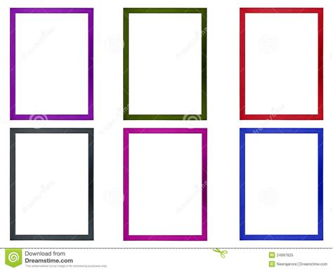 colored picture frames colored photo frames stock image image of isolated color