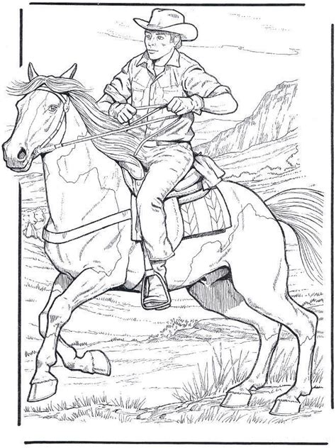coloring pages of cowboys and horses 161 best images about horse drawings on pinterest dovers