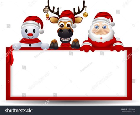 santa claus phone number email address find out here cartoon santa claus deer and snowman with blank sign