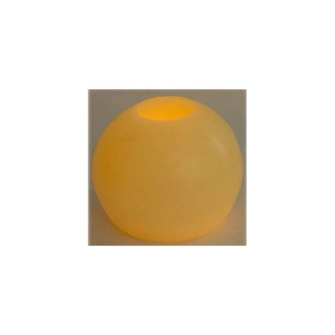 cera candela candela cera a led deluxe sfera cm 10 colore rossa