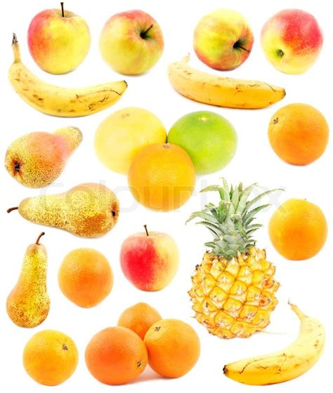 fruit jello yellow fruits isolated on white stock photo colourbox