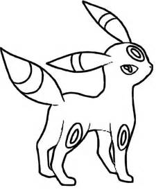 umbreon coloring pages az coloring pages