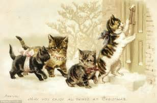 kittens suffragettes  snowball fights  londoners  wished   merry christmas