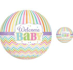 Balon Dot Baby 3d Pacifier pastel rainbow chevron welcome baby supplies