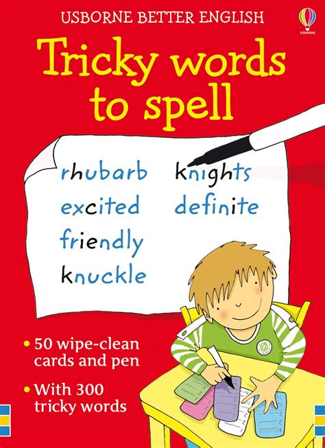 words and your books tricky words to spell cards at usborne children s books