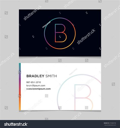 business card template us letter svg logo alphabet letter b business card stock vector