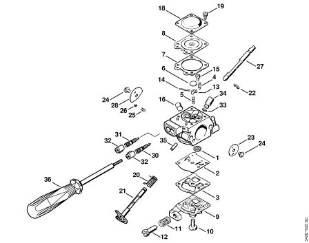 stihl fs100rx parts diagram my stihl fs 40 strimmer refuses to start not even a
