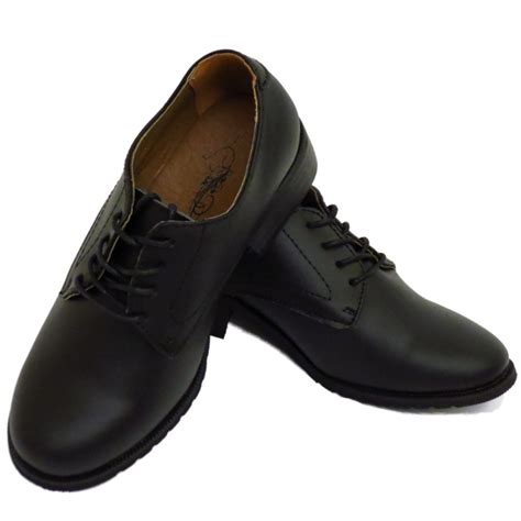womens black leather oxford shoes womens black leather oxford brogue smart work lace up