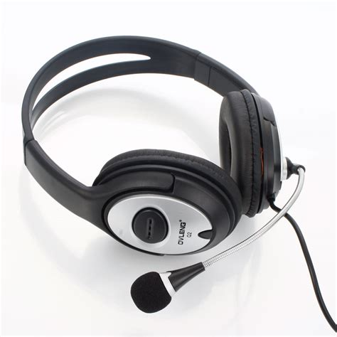 Headphone Pc adjustable usb gaming headset computer headphone microphone for pc laptops black ebay