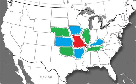 missouri map and surrounding states map coloring a hobbs and p yasskin 2015