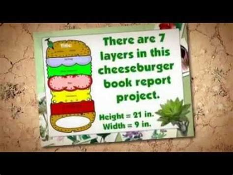 hamburger template for book report printable hamburger book report template