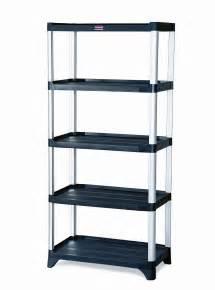 rubbermaid 9t39 shelving 5 shelf unit