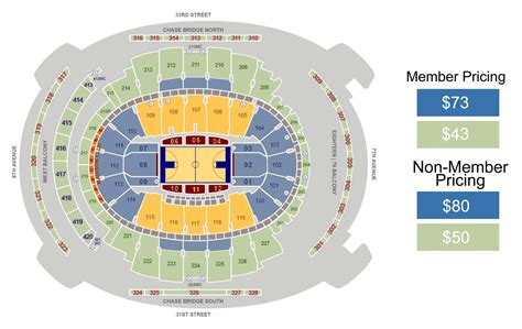 msg seating map square garden basketball seating chart