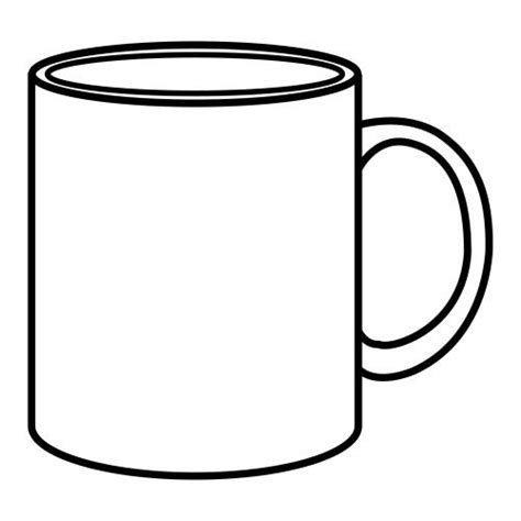 Coffee Mug Coloring Page Google Search Teaching Pinterest Coloring Pages Coloring And Mugs Coffee Mug Template
