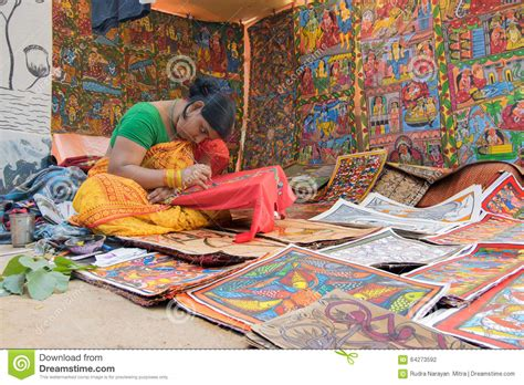 Handmade Products In India - colourful handicrafts being prepared for sale in pingla