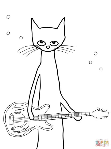Pete The Cat Coloring Pages pete the cat coloring page free printable coloring pages