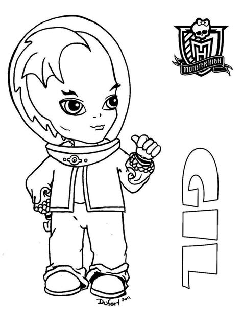 baby monster high dolls coloring pages baby monster high coloring pages gil webber monster high