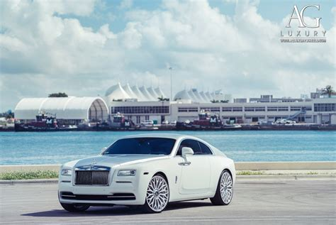 rolls royce white wraith ag luxury wheels rolls royce wraith forged wheels