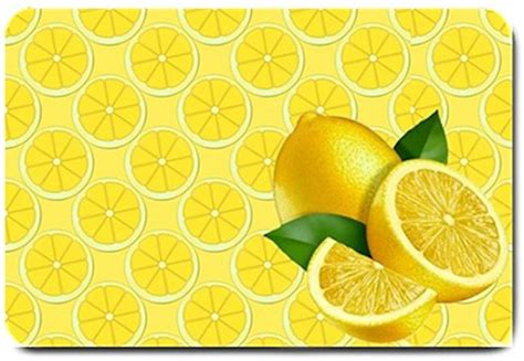 Yellow Kitchen Rugs Yellow Lemon Design Indoor Room Doormat Mats Rug For The Kitchen Ebay