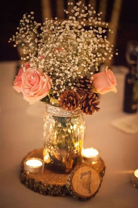 rustic wedding centerpieces on a budget 25 budget friendly rustic winter pinecone wedding ideas wedding centerpieces vintage wedding