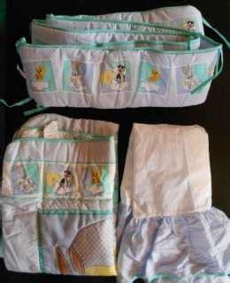 Baby Looney Tunes 7p Crib Bedding Nursery Set Tweety Bird Baby Looney Tunes Crib Bedding
