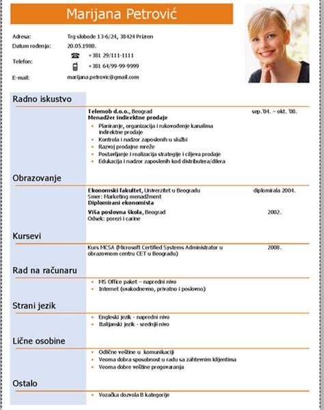 format cv za posao primeri šablona za radnu biografiju cv korespondencija 2