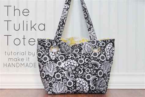 Handmade Tote Bags Patterns - make it handmade tulika tote sewing tutorial