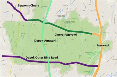 rute pintu tol jagorawi dekat dengan tol depok harga lima perumahan ini bakal
