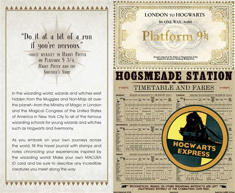 ministry of magic identity card template mini jurnal harry potter wizarding insight editions