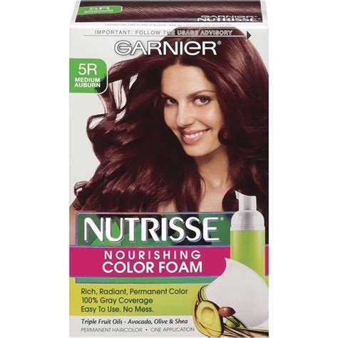 garnier foam hair color garnier nutrisse nourishing hair color foam avocado olive