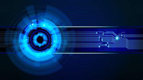 Home Design Box Type Futuristic Vector Technology Circuits Graphic Design Blue