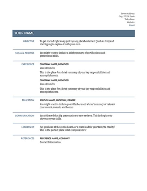 Basic Resume by Basic Resume Timeless Design