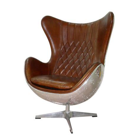 Fauteuil Cuir Marron Vintage fauteuil vintage en cuir marron harbor maisons du monde