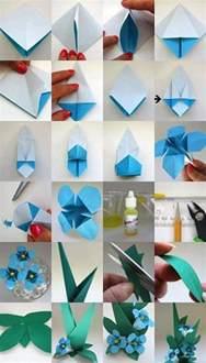 Wooden Flower Designs - diy origami flowers step by step tutorials k4 craft