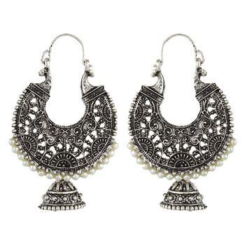 buy black metal hoop earrings
