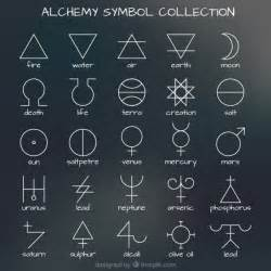 collection of alchemy symbol vector free